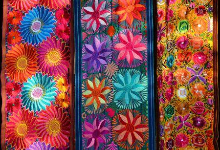 guatemalan: Traditional handmade mwxican fabric Stock Photo