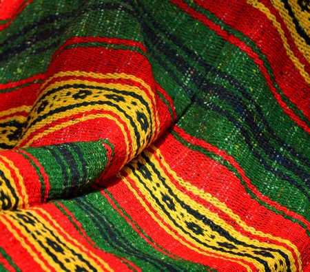 poncho: Colorful poncho in Mexico