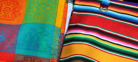 Traditional handmade mwxican fabric photo