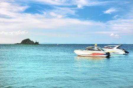 speedboats: speedboats on andaman see thailand