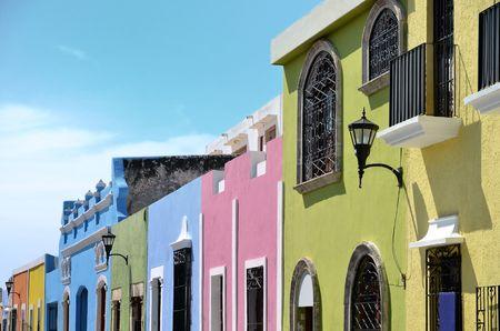 Campeche City in Mexico colonial architecture photo