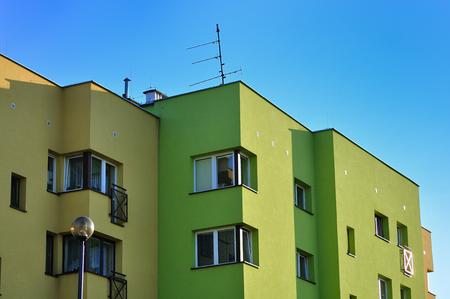 bulkhead: Block apartments Stock Photo