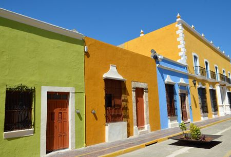 colonial house: Opis: Campeche City in Mexico colonial architecture