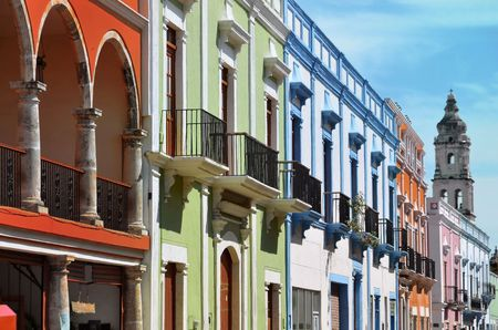 Campeche City in Mexico colonial architecture Stock Photo
