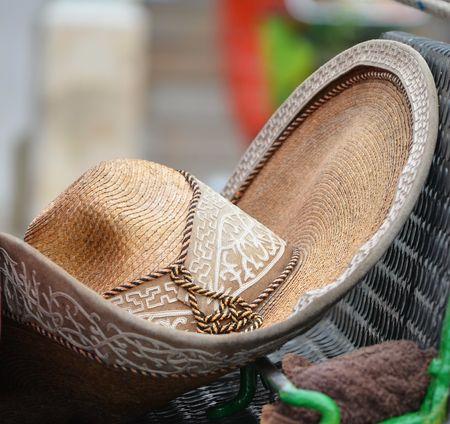 souvenirs: Colorful Mexican sombrero souvenirs Stock Photo