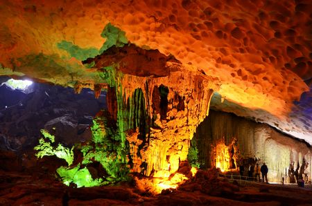 Sung Sot Cave in Vietnamese Ha Long Bay