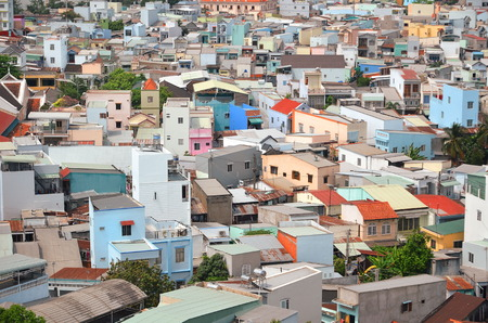 shanty: City aerial panoramic view of Can Tho