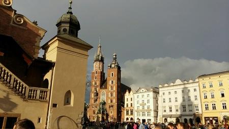 krakow: Krakow Main Square in summer