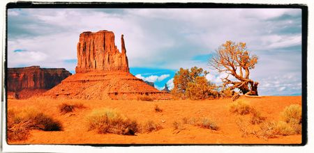 Monument Valley Navajo Tribal Park, Arizona USA Stock Photo