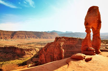 natural bridge state park: Delicate Arch in Arches National Park USA