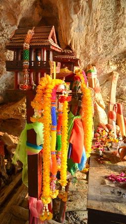 phallus: KRABI, THAILAND - March 19, 2015: Phra Nang Shrine Temple