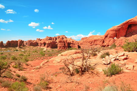 Rocks in Arches National Park, Utah, USA Stock Photo