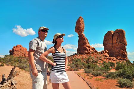 Couple near Balanced Rock
