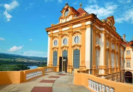 Melk, Austria, July 25, 2014: St. Peter and Paul Church in Melk Abbey, Austria Editorial