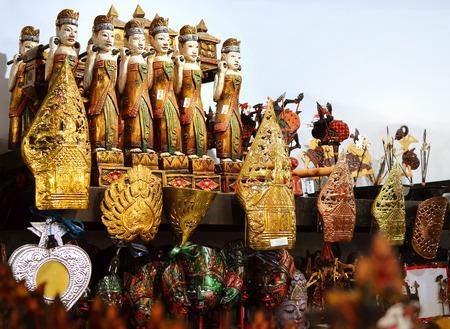 Yogyakarta, Jawa - May 10, 2016: Famous souvenirs at Yogyakarta Market Indonesia