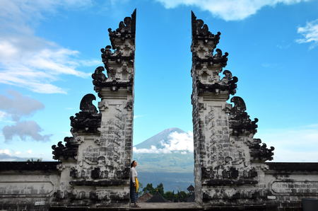 Pura Luhur Lempuyang temple Bali Stock Photo