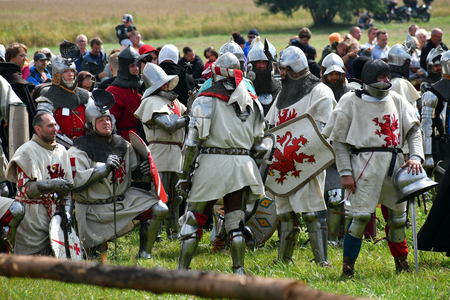 Grunwald, Poland - July 14th 2018: Battle of Grunwald 1410 reenactment