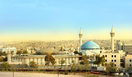 Mosquée du roi Abdallah à Amman en Jordanie Banque d'images
