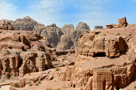 View of Siq canyon Petra Jordan