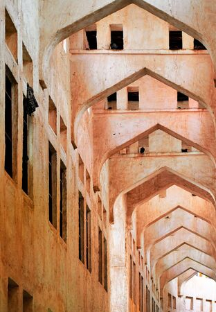 The roof and maze of alleys in Souq Waqif, Doha, Qatar