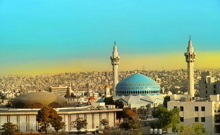 Mosquée du roi Abdallah à Amman en Jordanie