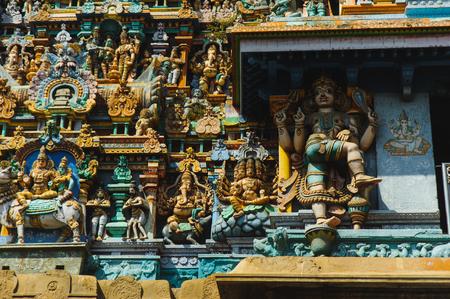 Meenakshi temple sculptured exterior