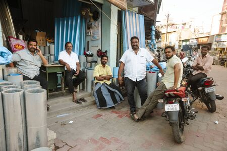 group of indian mans in outdoors posing at camera, 23 february 2018 Madurai, India