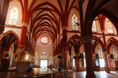 Saint Marys Catholic Cathedral church interior architecture, 23 february 2018 Madurai, India. Editorial