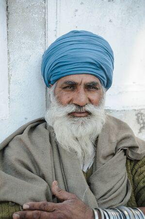 old indian sikh looking at camera. 26 february 2018 Amritsar, India.