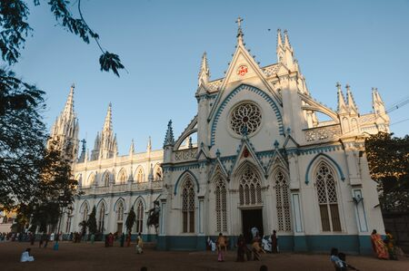 Saint Marys Catholic Cathedral church exterior architecture 23 february 2018 Madurai, India Editorial