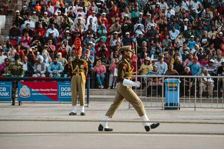 india pakistan wagah border show. 26 february 2018 Amritsar, India Editorial