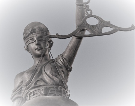 blindfold: Justitia is a personification of justice