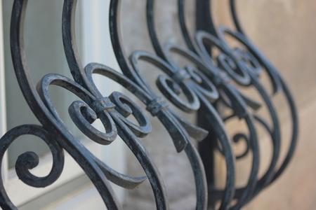 lattice window: Detail of a window lattice  grid Stock Photo