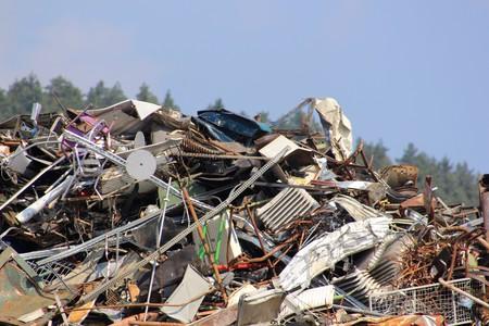 Abfallprodukte werden beim Recycling recycelt (Abfallrecycling)