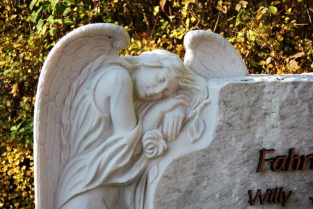 Gravestone with angel