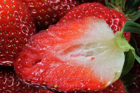 Strawberry Close_up  From strawberries you can conjure up delicious healthy things.