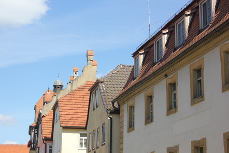 Cityscapes Details Bamberg  Germany architecture is characterized by a great deal of regional diversity, due to the centuries-long division of German territory into principalities and kingdoms Stockfoto