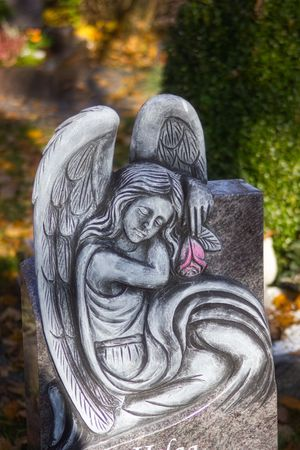 Sculptures of angels on graves give comfort and confidence in the time of mourning
