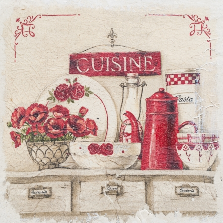 Paintings of objects in the kitchen  photo
