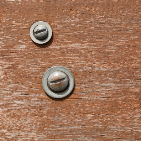 bolted: Surface of the Bolts and wood in a sunny day