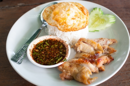 renowned: Rice with Chicken sold in renowned restaurants