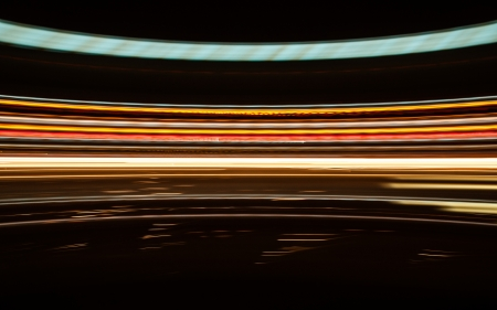 Abstract lines of light on the highway. photo