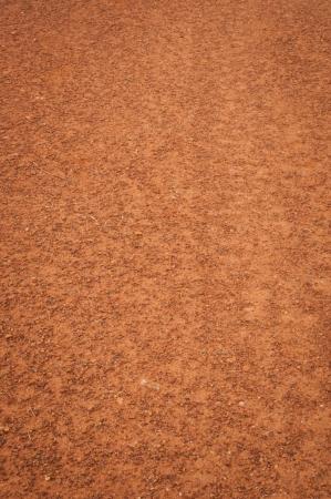 suelo arenoso: Lleno de polvo de camino de tierra en el campo