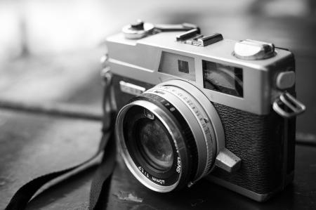 vintage: Film kameror som hade varit populär i det förflutna Stockfoto