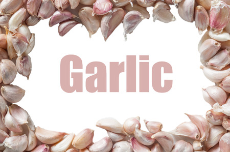 Garlic is fragrant spices commonly used in cooking photo