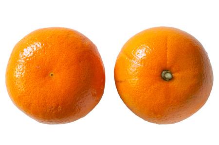 orange peel: Two orange peel on a white background