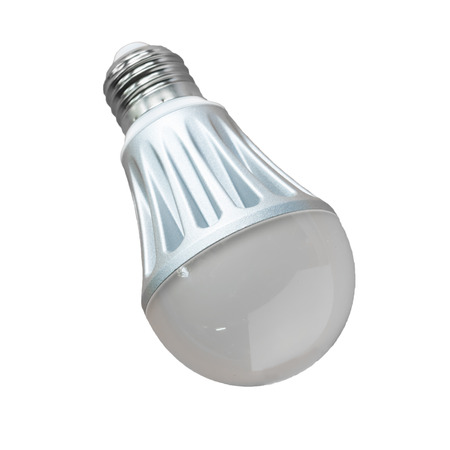 LED light bulbs to save energy on a white background photo