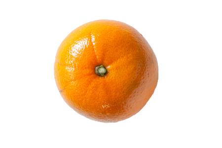 orange peel: One orange peel on a white background Stock Photo