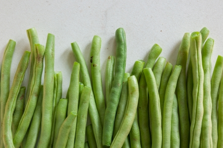 Yardlong bean from Thailand on a white  photo