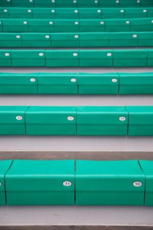 grandstand: La tribuna de los Verdes en el estadio Foto de archivo